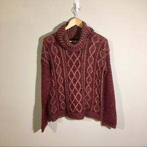 Romeo & Juliet Couture Cowl Neck Knit Sweater